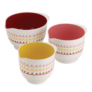 Melamine Mixing Bowl, Three Piece Set