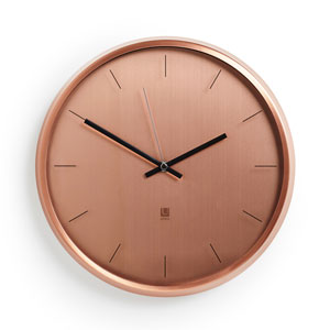 Meta Copper 12.5-Inch Wall Clock