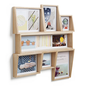 Edge Multiple Slot Wall Photo Display