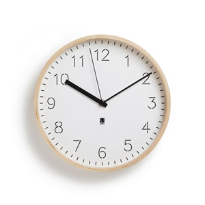 Rimwood White and Natural 11-Inch Wall Clock
