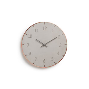 Piatto Concrete 10-Inch Wall Clock