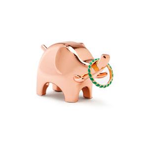 Anigram Copper Elephant Ring Holder