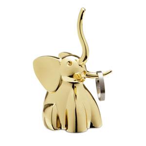 Zoola Brass Elephant Ring Holder