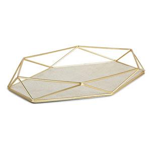 Prisma Matte Brass Jewelry Tray