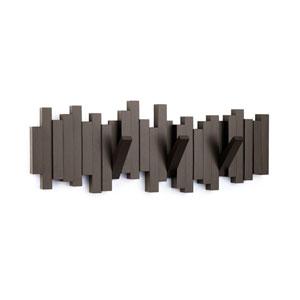 Espresso Sticks Multiple Hook Coat Rack