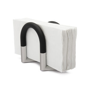 Swivel Black and Nickel Napkin Holder
