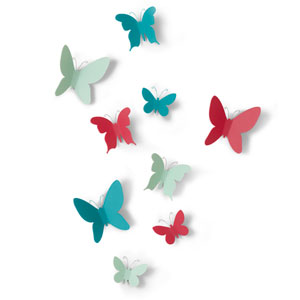 Mariposa Wall Décor, Set of Nine