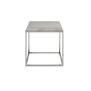 Stainless Steel End Table with Stone Top
