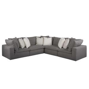 Palmer Gray Four-Piece Sectional Sofa