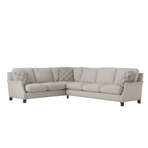 Tucker Beige Right Arm Sofa and Left Arm Corner Sectional
