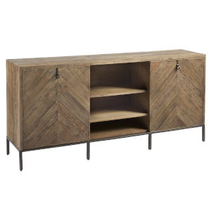 Langston Rustic Elm Truman Entertainment Console