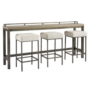 Curated Greystone Mitchell Console With Stools