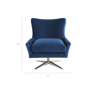 Everette Blue 31-Inch Chair