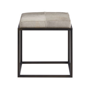 Safari Dark Bronze and Grey Fabric Ottoman