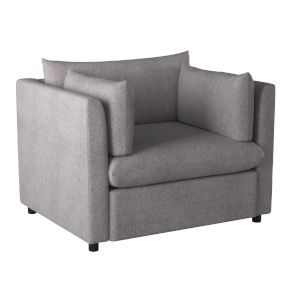 Gray The Mellow Lovers Armchair with Arm Pillows