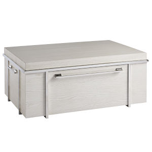 Paradox Ivory Storage Cocktail Table