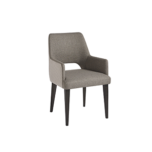 Tatum Black and Grey Upholstered Arm Chair, Set of 2