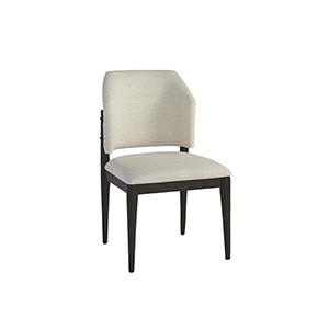 Evan Black and Grey Barrel Back Dining Chair, Set of 2