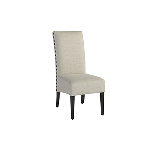 Addison Black and Grey Upholstered Dining Chair, Set of 2