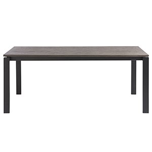 Hamilton Grey and Black Dining Table with Oak Top