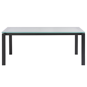 Hamilton Black Dining Table with Glass Top