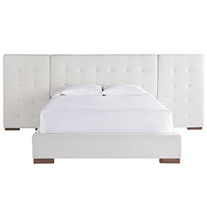 Brantley White and Brown Complete Queen Wall Bed