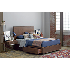 Tanner Brown Complete King Storage Bed