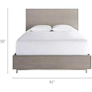 Tanner Grey Complete King Storage Bed