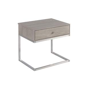Tanner Grey Nightstand Table