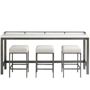 Essence Meringue 82-Inch Console Table with Stools