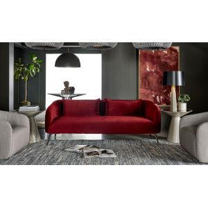 Nina Magon Sapphire Velvet Merlot Sofa