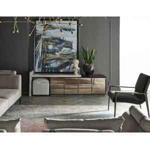 Nina Magon Sand Laquer And Bronze Metal Console With Stool