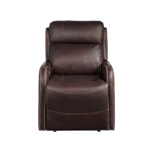 Mayfield Dark Bronze Hudson Umber Leather Motion Chair
