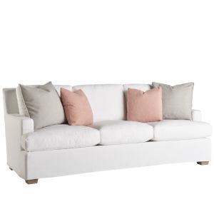 Miranda Kerr Malibu White Lacquer Slipcover Sofa