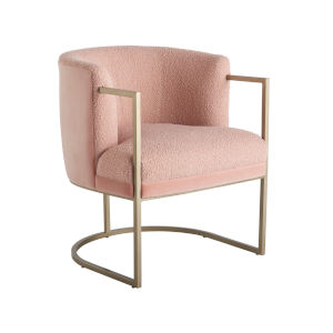 Miranda Kerr Cali Blush and Soft Gold Accent Chair