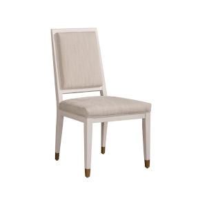 Miranda Kerr Love Joy Bliss Alabaster and Pewter Armless Dining Chair, Set of 2