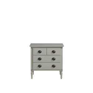 Gray Three-Drawer Wood Nightstand