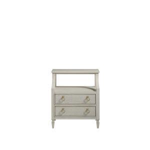 Gray One-Drawer Wood Nightstand