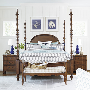 The Dogwood Brown Complete California King Bed