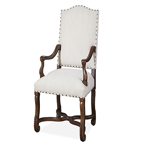 Paula and Michaels Brown Host and Hostess Chair- Set of Two