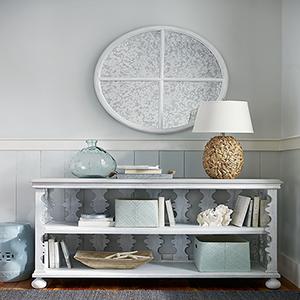Dogwood White Round Mirror