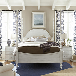 The Dogwood White Complete Queen Bed