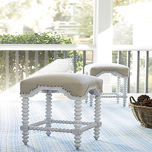 Dogwood White Kitchen Stool