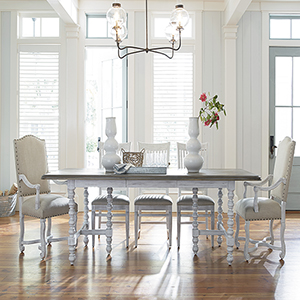 Dogwood White and Grey Dinner Table