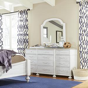 Dogwood White and Grey Dresser