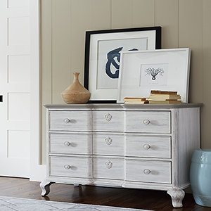 Dogwood White and Grey Bedside Chest