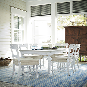 Dogwood White and Grey Kitchen Table