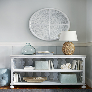 Dogwood White and Grey Side Porch Console