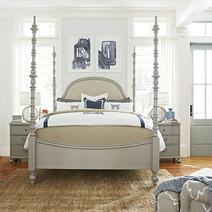The Dogwood Grey Complete Queen Bed