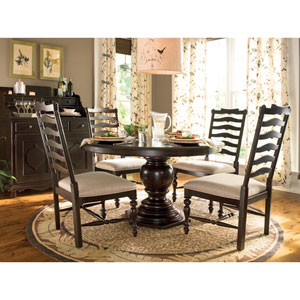 Tobacco Round Pedestal Table
